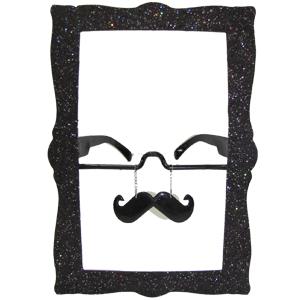 Прикольные очки Фоторамка с усами