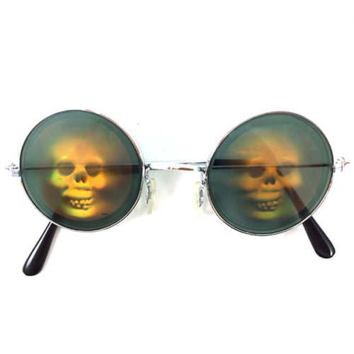 Прикольные очки Череп голограмма