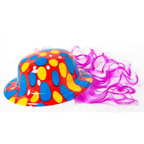 Шляпа Клоун с цветными овалами ассорти