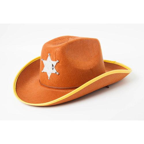 Шляпа Шериф коричневая