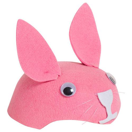Шляпа из фетра Зайчик розовый