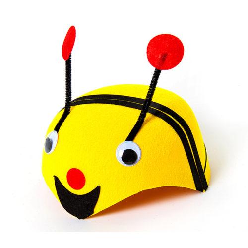 Шляпа из фетра Пчелка Желтая