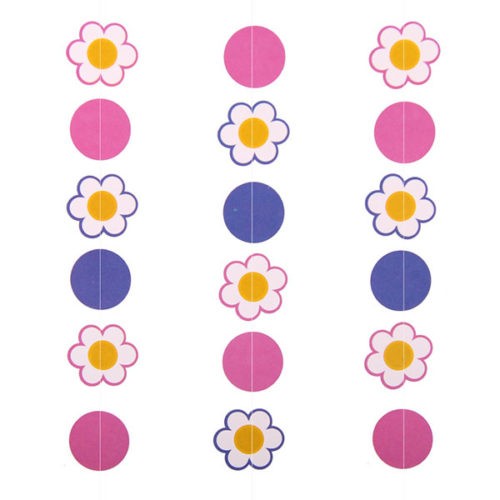 Гирлянда вертикальная Цветы 100 см 3 шт