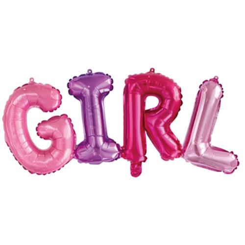 Надпись Girl Разноцветный 109 см