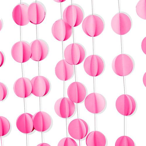 Подвеска Круги Розовый 200 см