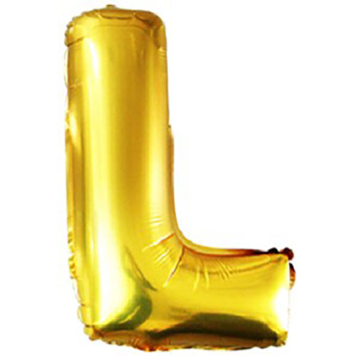 Шар 102 см Буква L Золото