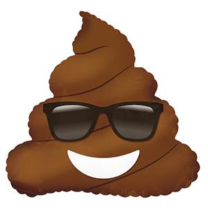Шар 23 см Мини-Фигура Смайл Эмоции Шоколадное мороженое в очках Коричневый