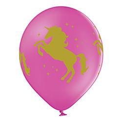 Шар 30 см Единорог Фуше Розовый Белый пастель