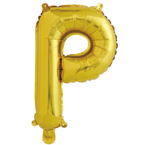 Шар 41 см Буква Р Золото