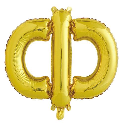 Шар 41 см Буква Ф Золото