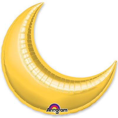 Шар 43 см Мини-Фигура месяц Золото