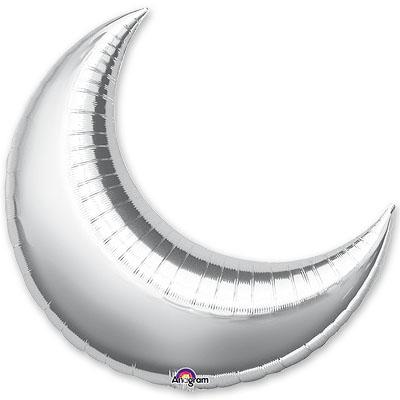 Шар 43 см Мини-Фигура месяц Серебро