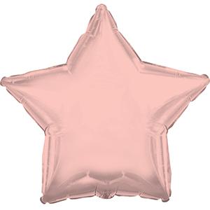 Шар 46 см Звезда Розовое Золото