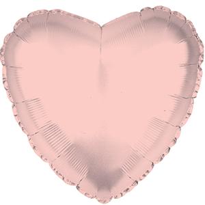 Шар 46 см Сердце Розовое Золото