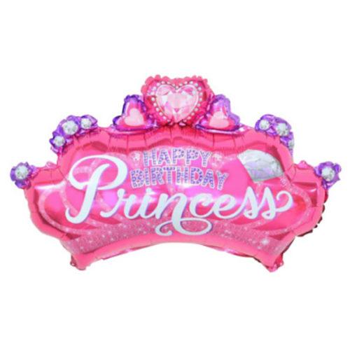 Шар 74 см Фигура Фигура Диадема для принцессы Розовый