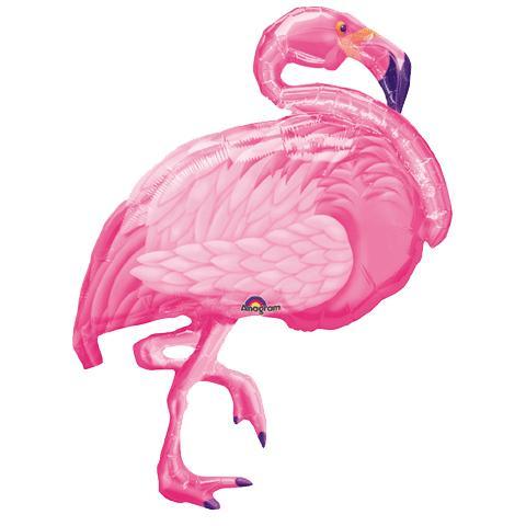 Шар 89 см Фигура Фламинго розовый