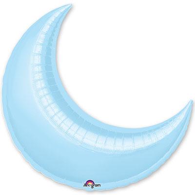 Шар 89 см Фигура месяц Пастель Голубой