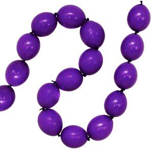 Гирлянда из шаров простая с воздухом Фиолетовый диаметр макси 5 метров