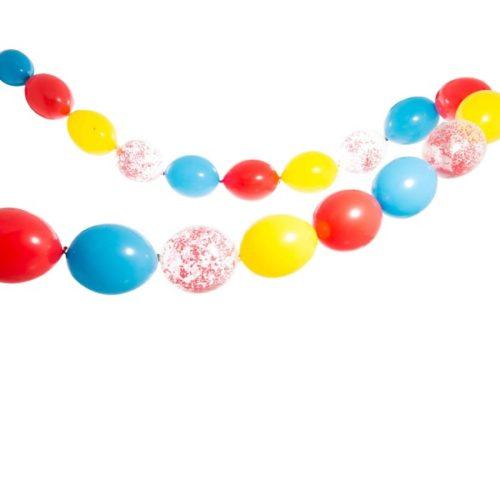 Гирлянда из шаров простая с воздухом Цирк диаметр макси 5 метров