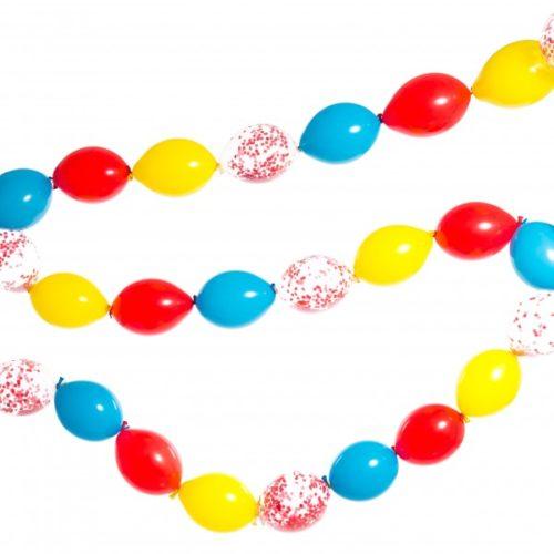 Гирлянда из шаров простая с воздухом Цирк диаметр мини 4 метра