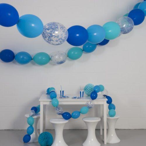 Комплект гирлянд из шаров с воздухом Морская 3 размера по 3 метра