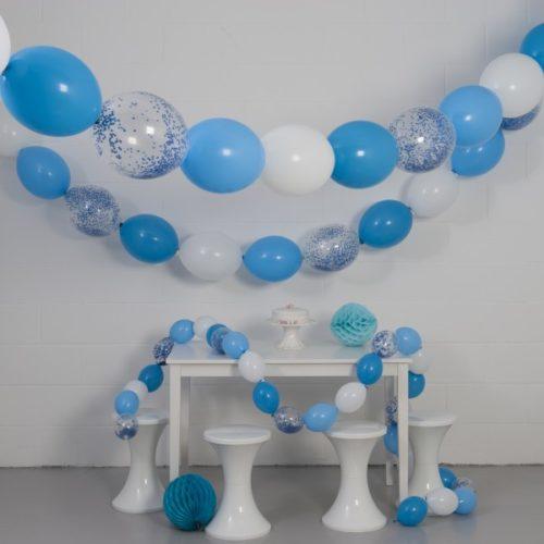 Комплект гирлянд из шаров с воздухом Небо 3 размера по 3 метра