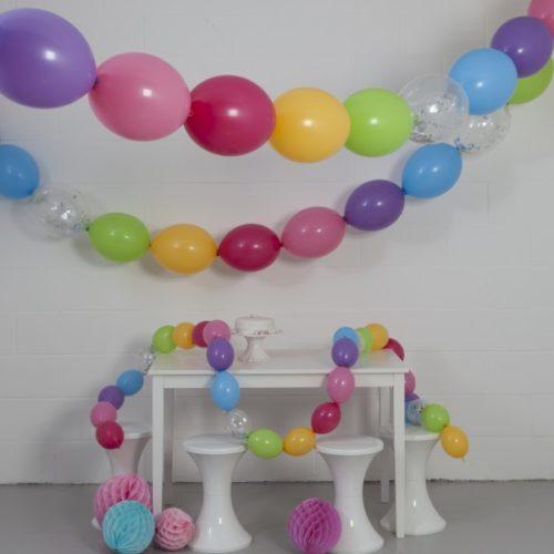 Комплект гирлянд из шаров с воздухом Пастель 3 размера по 3 метра