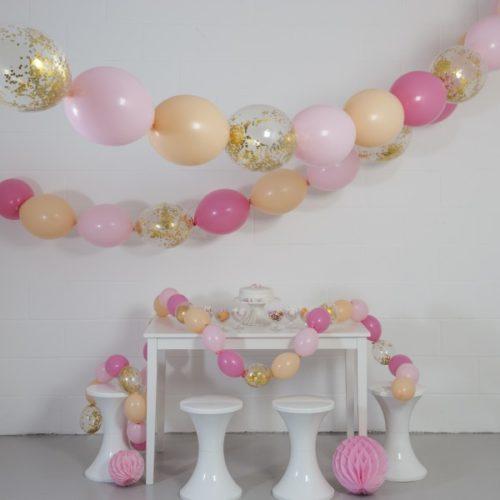Комплект гирлянд из шаров с воздухом Персик 3 размера по 3 метра