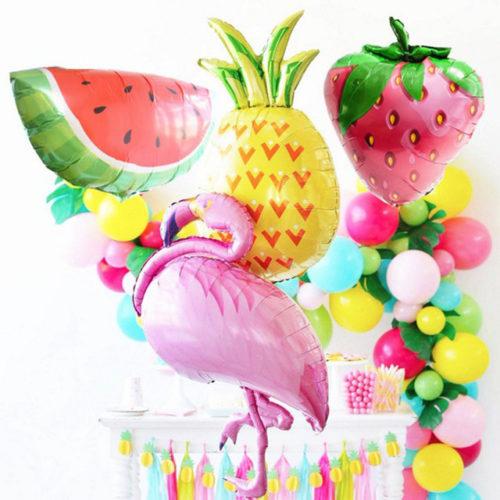 Комплект для украшения вечеринки из гирлянды и шаров Тропики