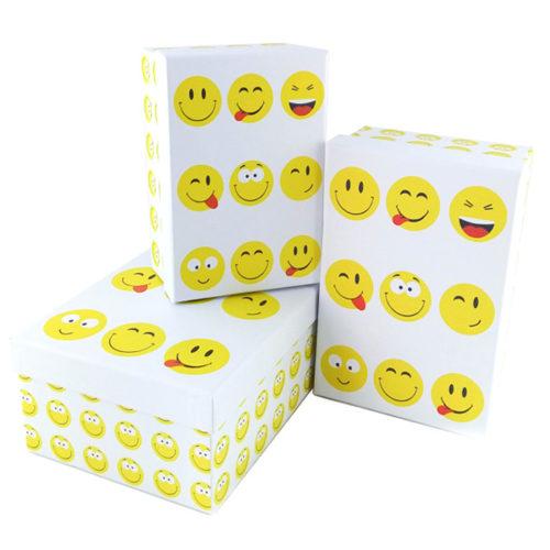 Коробка 18 х 12 х 7 Набор коробок Смайлы прямоугольник