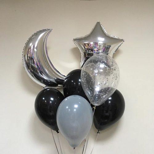 Связка из воздушных шаров Ночька