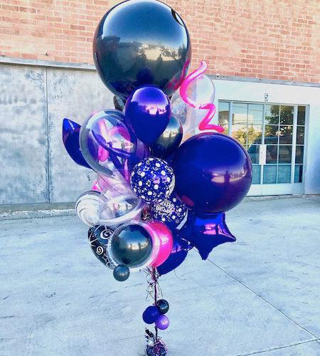 Фонтан Фиолетовый Ассорти из шаров