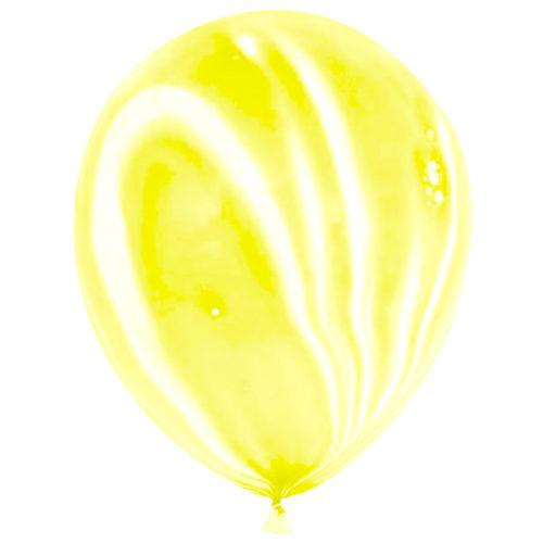 Шар 30 см Желтый Агат Пастель