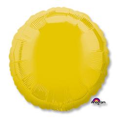 Шар 46 см Круг Пастель Желтый