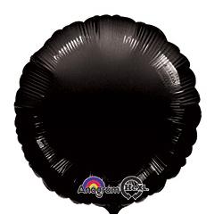 Шар 46 см Круг Пастель Черный
