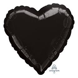 Шар 46 см Сердце Пастель Черный