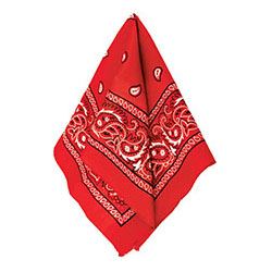 Бандана с рисунком красная 50 х 50 см