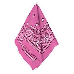 Бандана с рисунком розовая 50 х 50 см