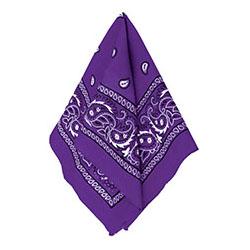Бандана с рисунком фиолетовая 50 х 50 см