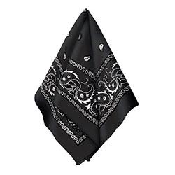 Бандана с рисунком черная 50 х 50 см