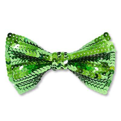 Галстук-бабочка с пайетками зеленый