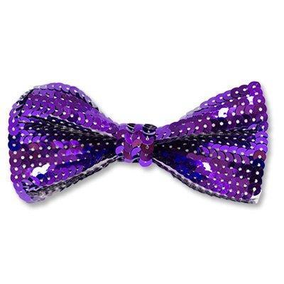 Галстук-бабочка с пайетками фиолетовый