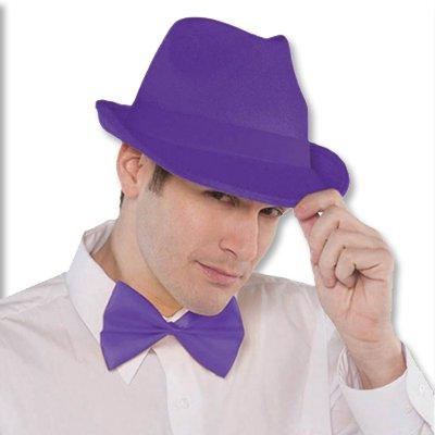 Галстук-бабочка фиолетовый