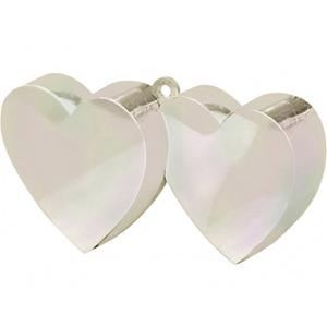 Грузик для шара Два Сердца перламутровый 170 гр