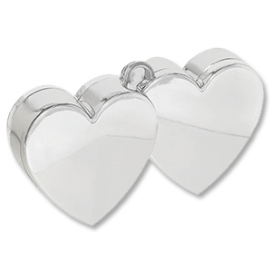 Грузик для шара Два Сердца серебро 170 гр