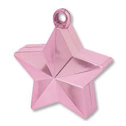 Грузик для шара Звезда розовая 170 гр