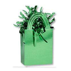 Грузик для шара Сумочка зеленый 160 гр