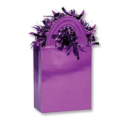 Грузик для шара Сумочка фиолетовый 160 гр