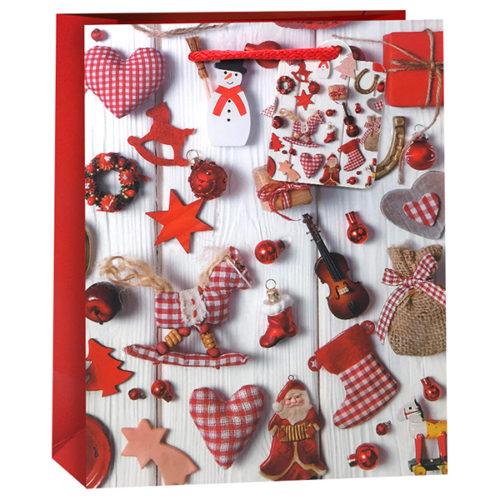 Пакет подарочный Новогодние подарки 31 x 42 x 12