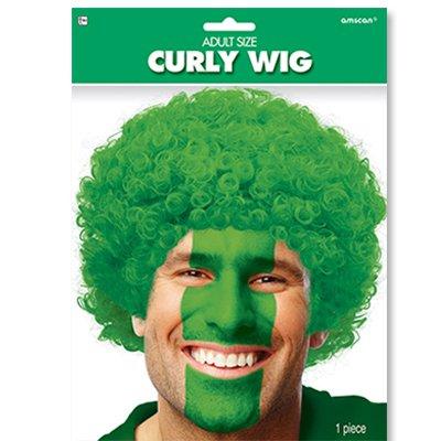 Парик кудрявый зеленый